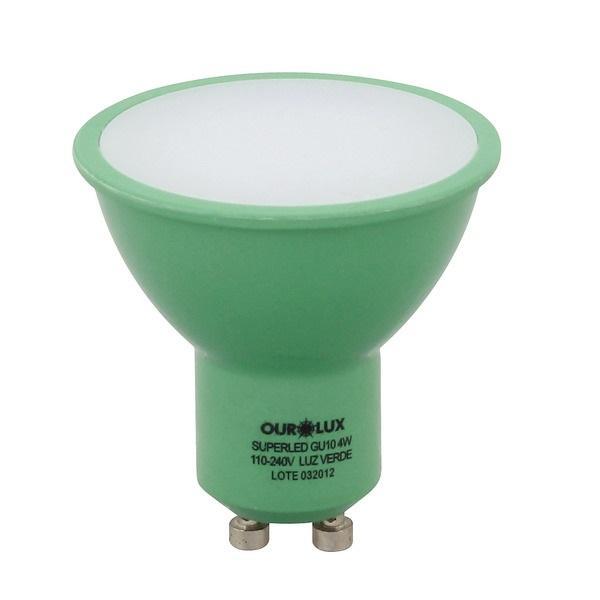 LAMPADA DICROICA LED GU10 4W VERDE MR16