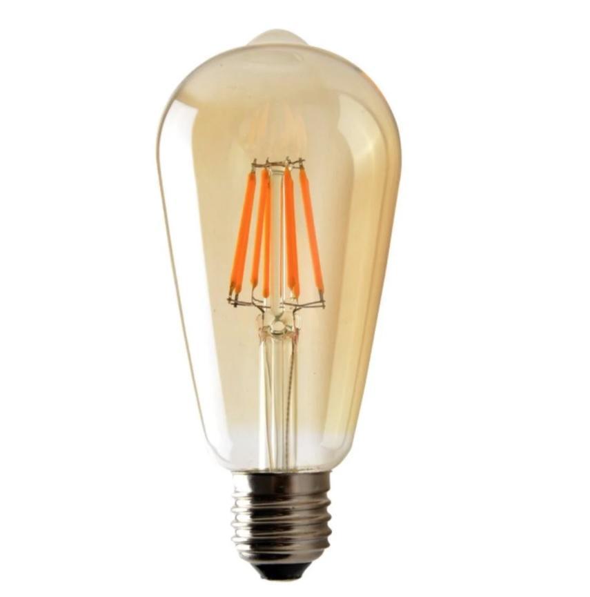 LAMPADA LED FILAMENTO VINTAGE AMBAR LONGA 4W ST64