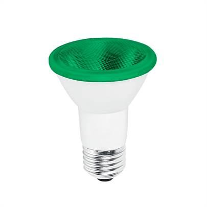 LAMPADA PAR 20 LED 7W VERDE