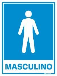 PLACA MASCULINO 15 X 20 SINALIZE