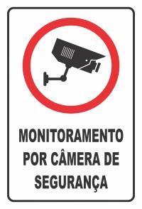 PLACA MONITORADO POR CAMERA 30X20 SINALIZE
