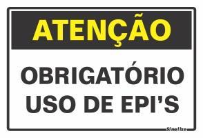 PLACA OBRIGATORIO EPI 30 X 20 SINALIZE
