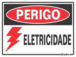 PLACA PERIGO ELETRICIDADE 15 X 20 SINALIZE