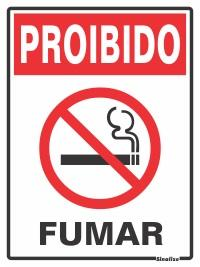 PLACA PROIBIDO FUMAR 15 X 20 SINALIZE