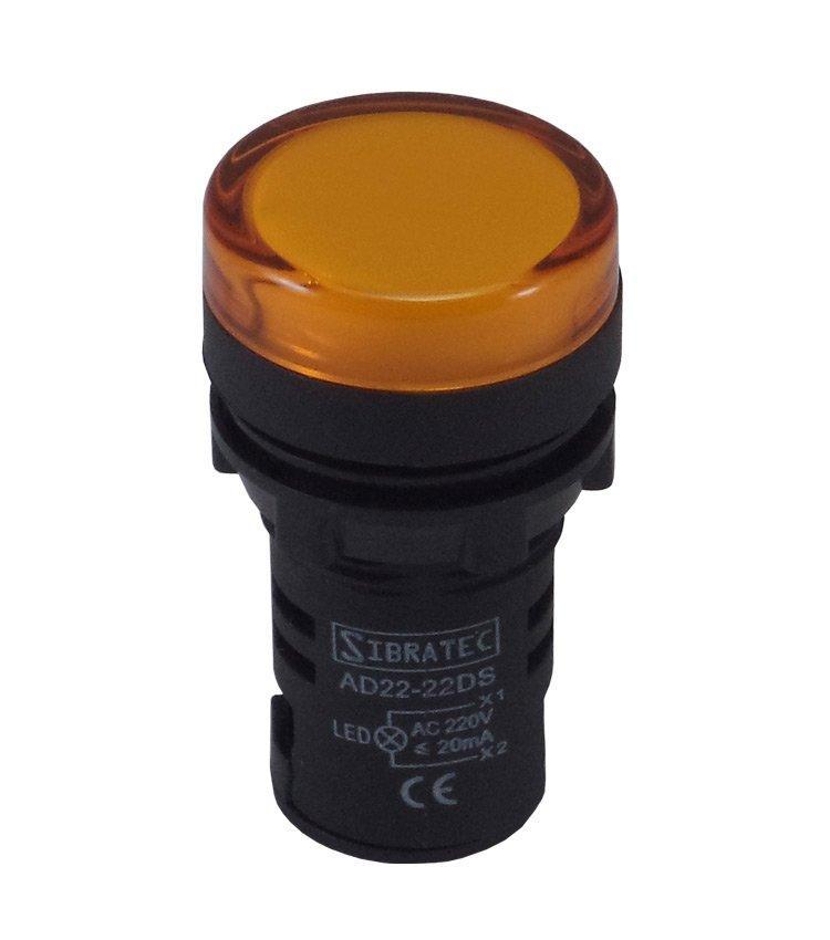 SINALEIRO LED AMARELO 22 MM SIBRATEC