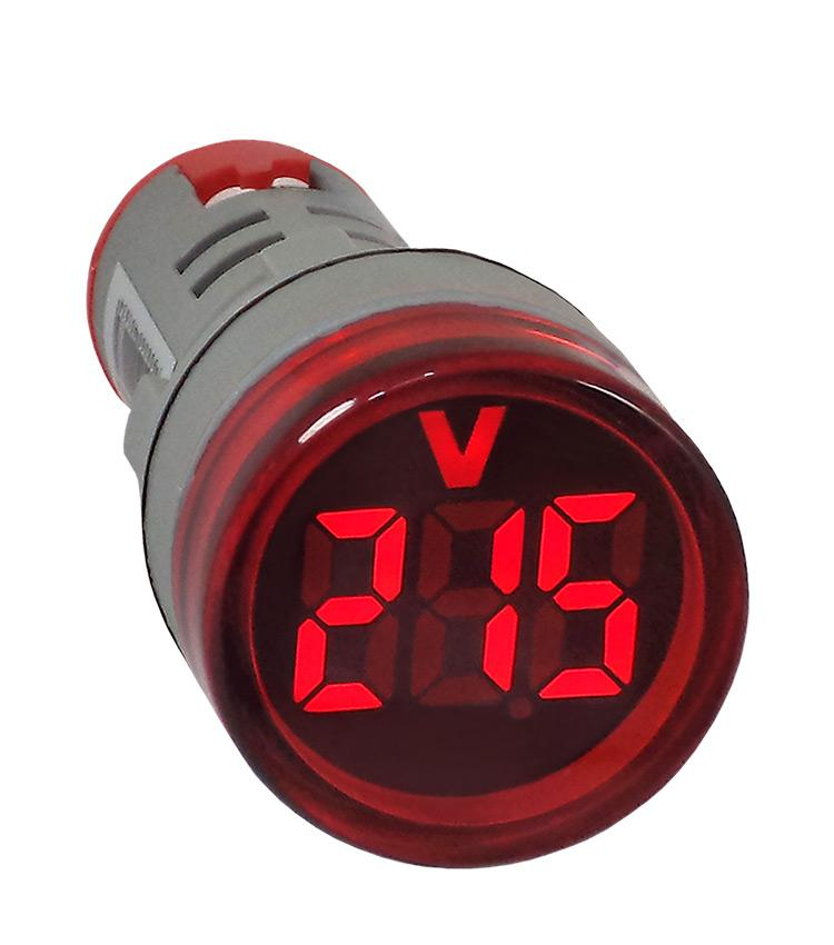VOLTIMETRO DIGITAL 22MM PAINEL AC20-500V