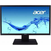 Monitor Acer LCD Widescreen 19.5´ VGA, 5 ms, HD, HDCP, VESA, Bivolt, Preto - V206HQL 110/220V bivolt