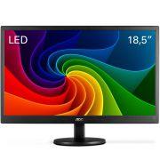 Monitor LED AOC 18.5´ HD Widescreen Ultra High DCR OSD VGA E970SWNL Preto 110/220V bivolt