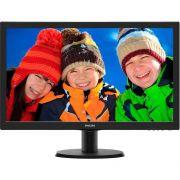 Monitor Philips LCD Tela de 23.6´ Full HD, 8ms, VGA/DVI/HDMI, SmartControl Lite - 243V5QHABA 110/220V bivolt