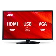 "TV LED 24"" AOC LE24M1475 - Conversor Digital 2 HDMI 1 USB"