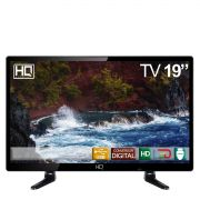 "TV MONITOR LED 19"" HQ Conversor Digital HDMI USB - HQTV19"