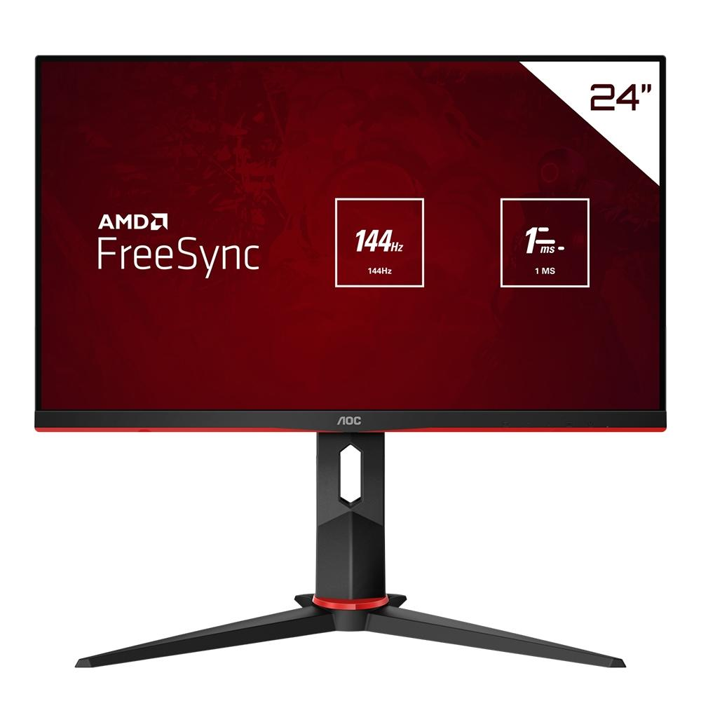 Monitor Gamer AOC HERO 23.8´ IPS DP FreeSync, 144Hz 1ms 24G2/BK