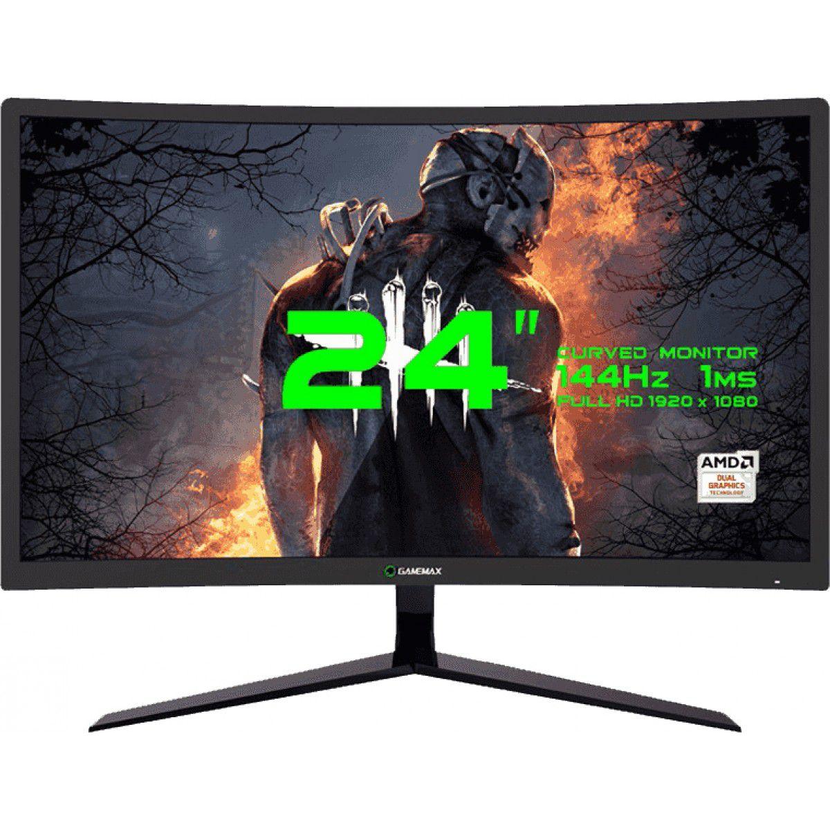Monitor Gamer GameMax 24 Curvo, FHD, 144Hz, 1ms, GMX24C144
