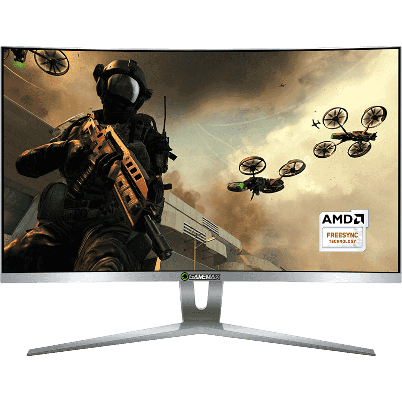 Monitor Gamer Gamemax LED 27´ Wide Curvo, FHD, HDMI/DVI/Display Port, FreeSync, 144Hz, 1ms - GMX27C144-W