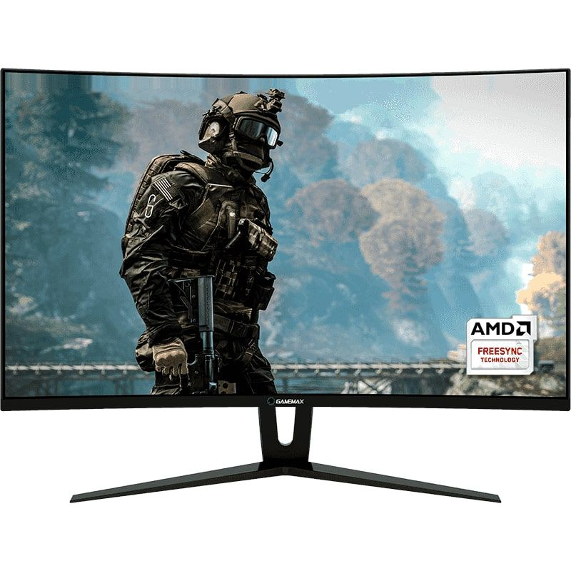 Monitor Gamer Gamemax LED 27´ Wide Curvo, FHD, HDMI/DVI/Display Port, FreeSync, 144Hz, 1ms GMX27C144-b