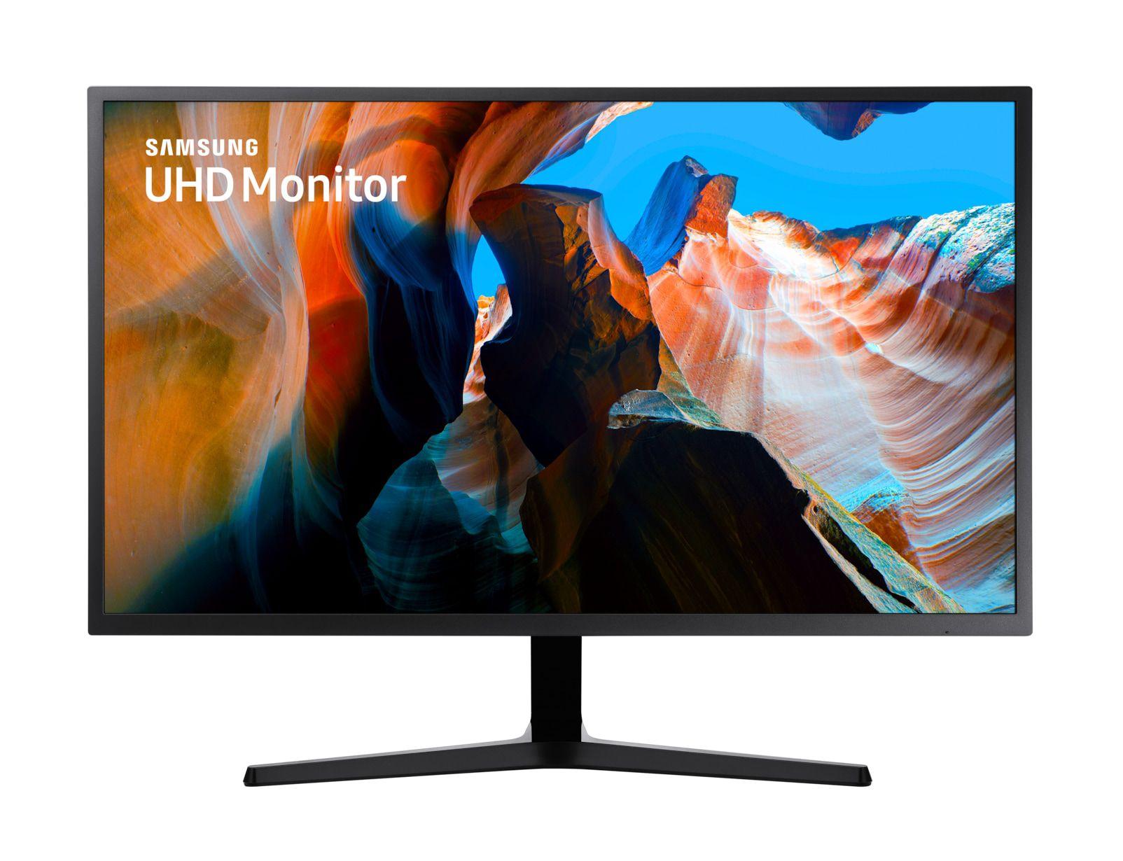 Monitor Led 32 Samsung Lu32j590uqlxzd Ultra Hd Cinza Escuro