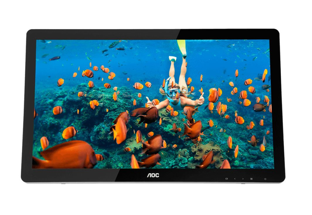 Monitor Touch AOC E2272PWUT/BS Tela 21.5 LED Preto VGA/HDMI