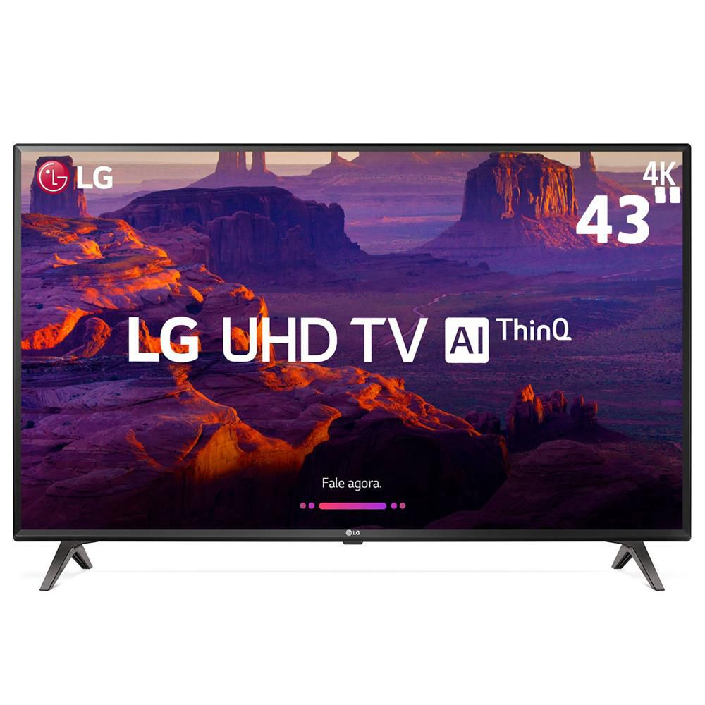 "Smart TV 43"" 4K LG UHD 43UK6310 IPS ThinQ AI WI-FI HDR10 Pro"