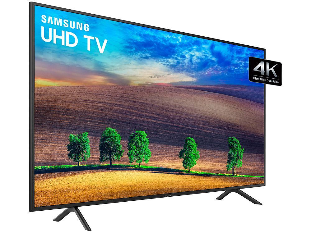 "Smart TV 4K Samsung LED UHD 50"" HDR Wi-Fi, 3 HDMI UN50NU7100"