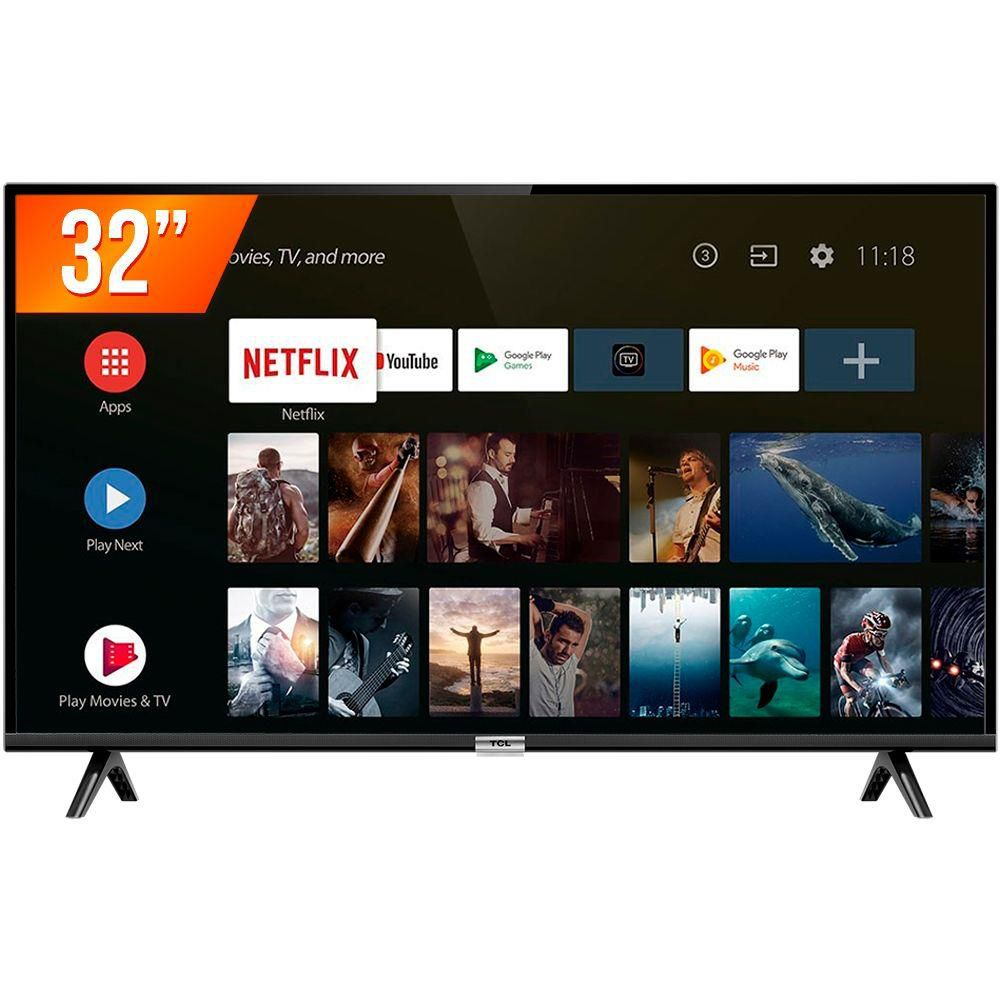 "Smart TV Android LED 32"" Semp 32S5300 Bluetooth 2 HDMI 1 USB"