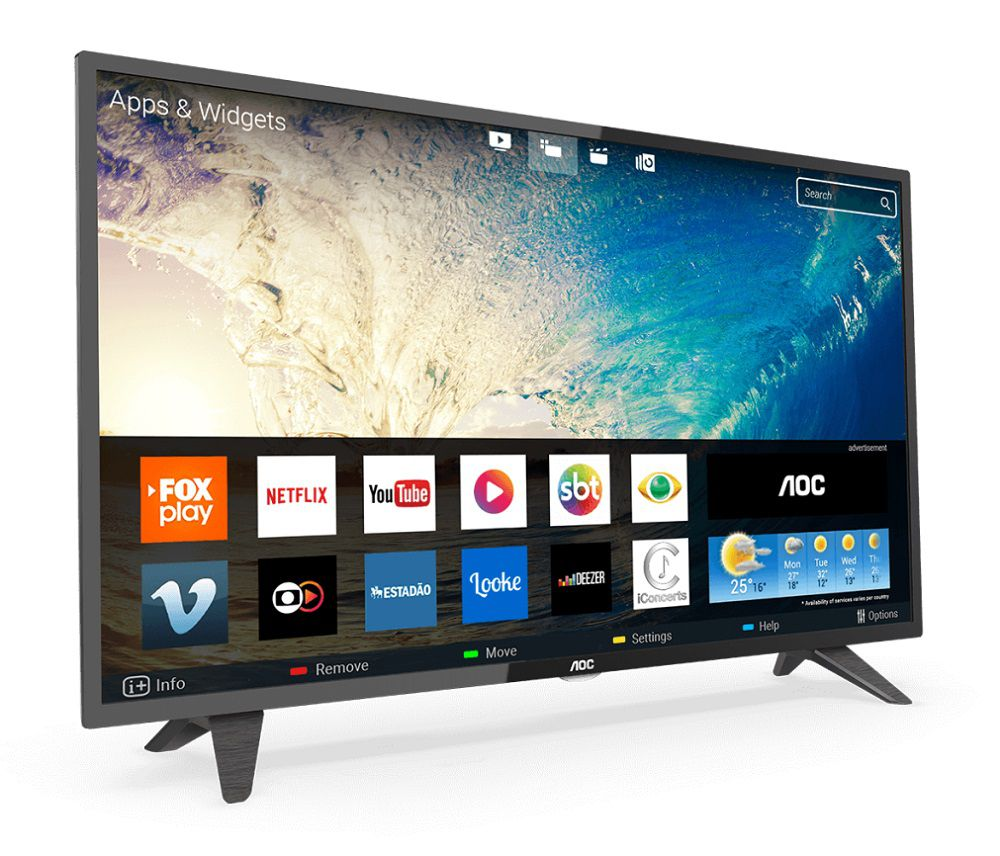 Smart TV AOC 39´ LCD Led HD 3 Hdmi 2 USB Wi-Fi LE39S5970