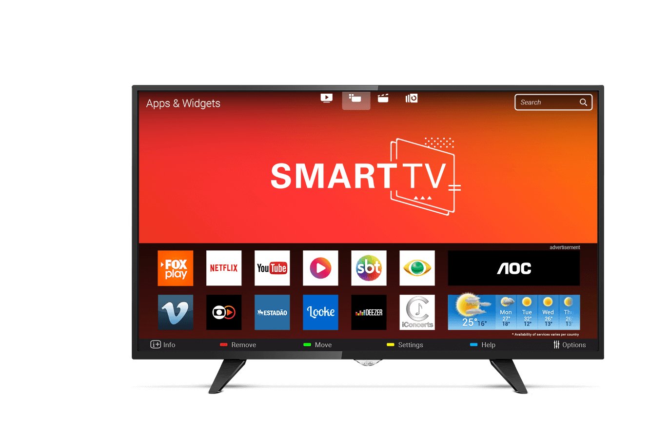 "Smart TV LED 43"" AOC Full HD LE43S5970 3 HDMI, WIFI, Netflix"