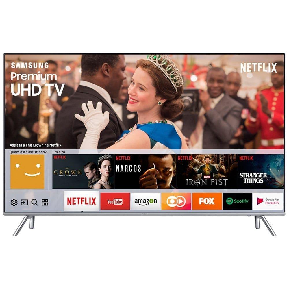 "Smart TV LED 65"" Samsung UN65MU7000 4K Ultra HD HDR com Wi-Fi, 3 USB, 4 HDMI e 240Hz"
