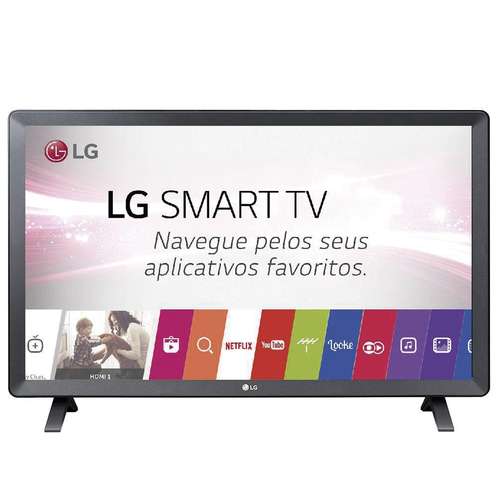 Smart TV Monitor LED 23.6´ LG, 2 HDMI, 1 USB, Wi-Fi 24TL520S