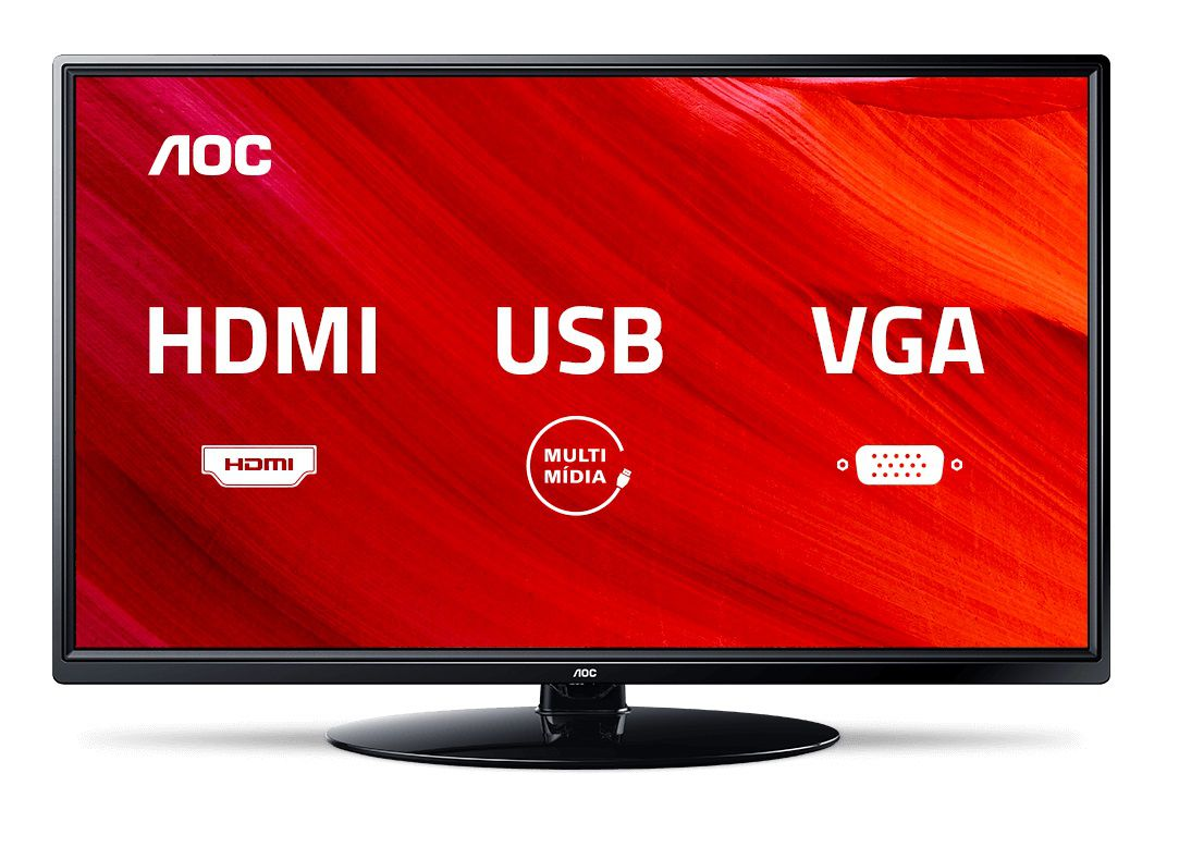 "TV LED 24"" AOC LE24M1475 - Conversor Digital 2 HDMI 1 USB"