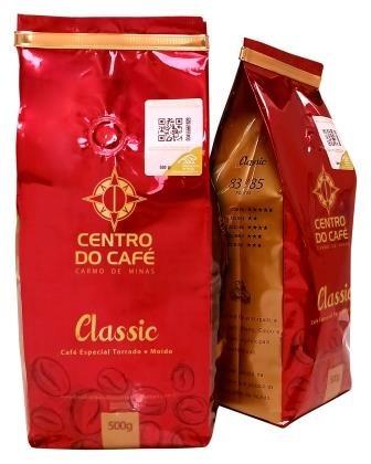 Combo de 4 Unidades do Classic 500 gr em Grãos  - Centro do Café Carmo de Minas