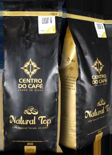 Combo de 4 Unidades do Natural Top 500 gr em Grãos  - Centro do Café Carmo de Minas