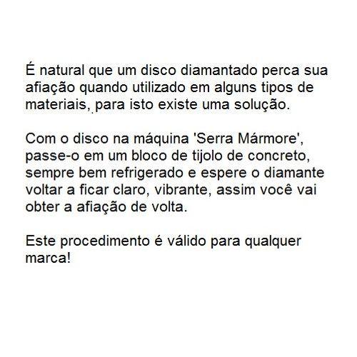 Disco Diamantado Liso Dtools 110x20mm