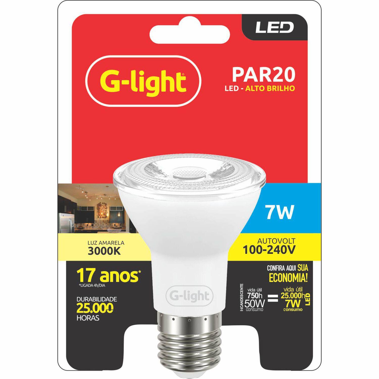 Lâmpada LED PAR20 7W 3000K E27 Autovolt  - Loja Jurerê