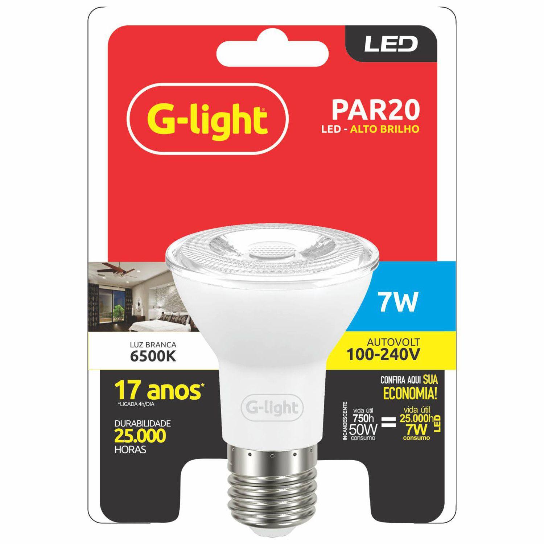 Lâmpada LED PAR20 7W 6500K E27 Autovolt  - Loja Jurerê