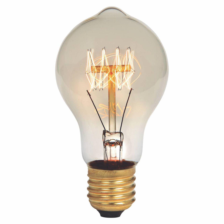 Lâmpada Filamento de Carbono A60 2300K 40W E27 220V