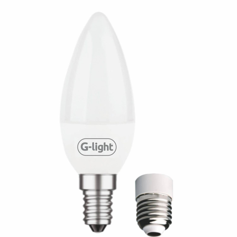 Lâmpada Vela LED Leitosa 4W 6500K E14 Autovolt  - Loja Jurerê