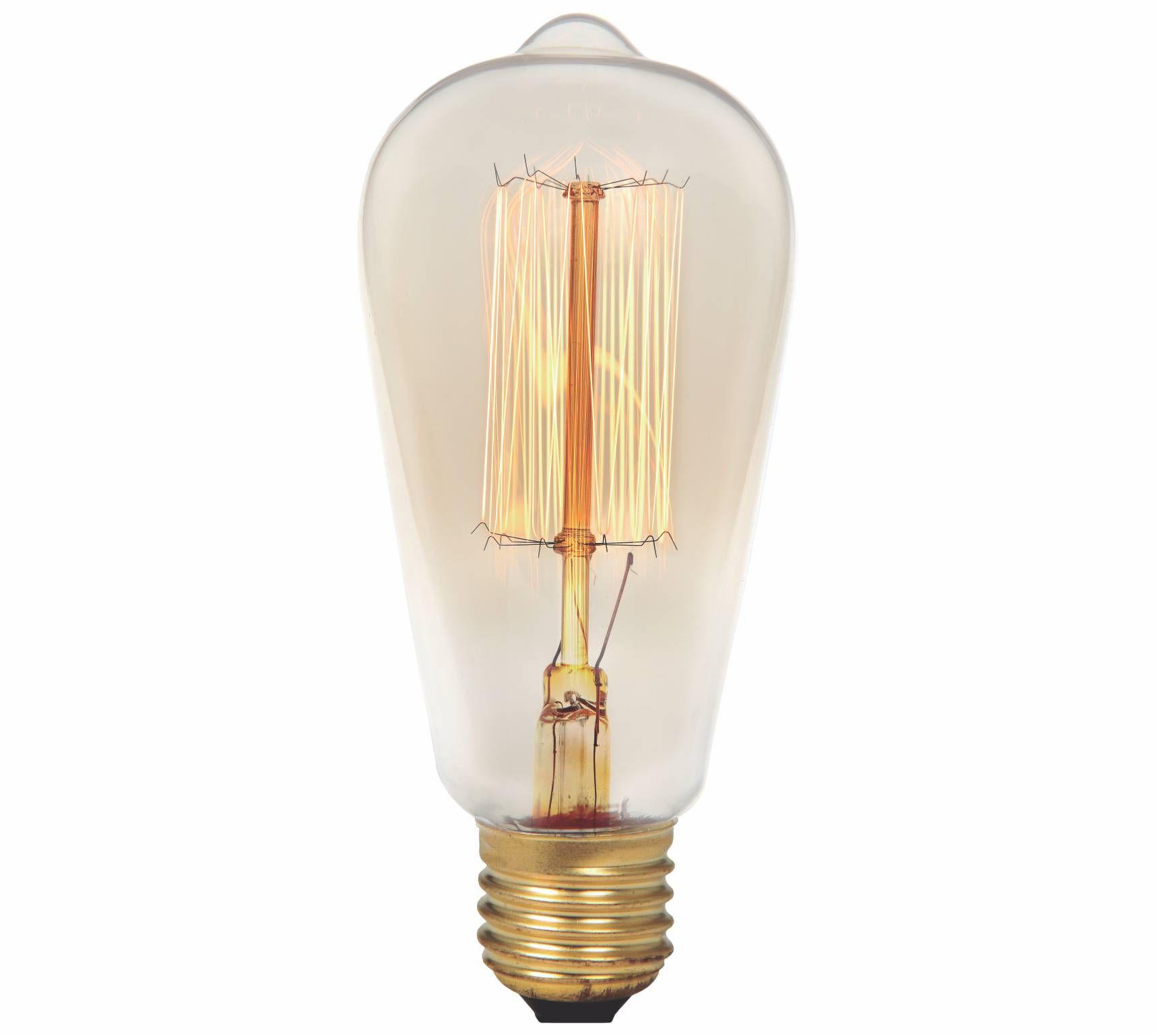 Lâmpada Filamento de Carbono ST58 2300K 40W E27 220V  - Loja Jurerê