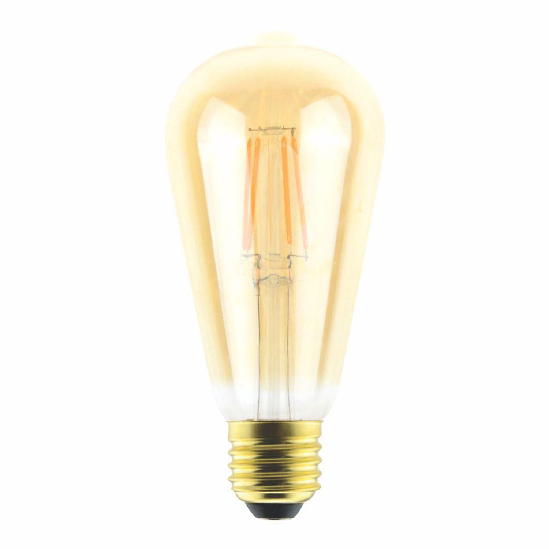 Lâmpada Filamento LED Bulbo Âmbar 4W 2000K E27 Autovolt