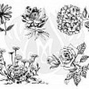TELA PARA SILKSCREEN MOTIVO  FLOWERS XL (FLORES EG)