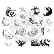 TELA PARA SILKSCREEN MOTIVO FRUITS (FRUTAS)