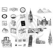 TELA PARA SILKSCREEN MOTIVO GLOBAL TRAVEL (VIAGENS)