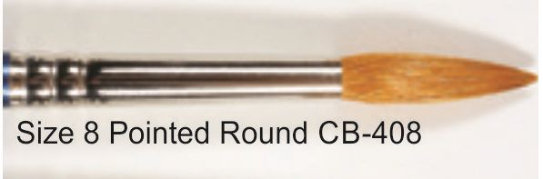 CB408 - PINCEL REDONDO - #8 POINTED ROUND