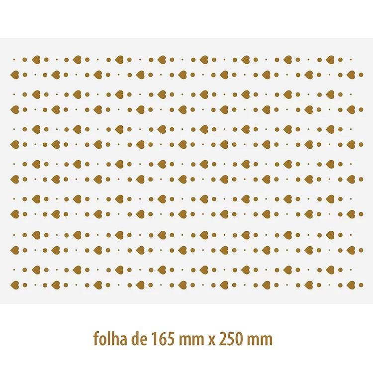 DECALQUE OURO CORAÇÃO 03