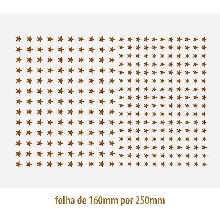DECALQUE OURO ESTRELA 03