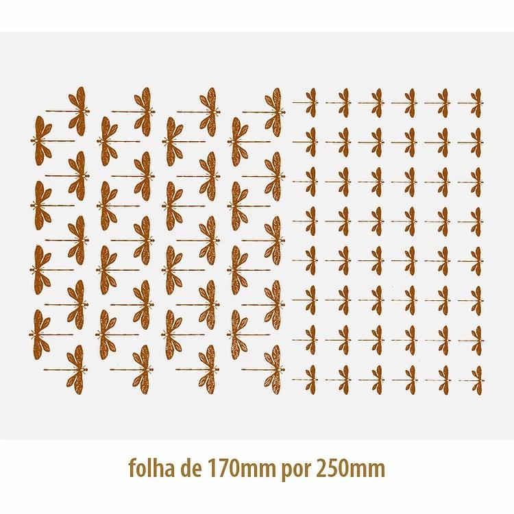 DECALQUE OURO LIBELULAS 04