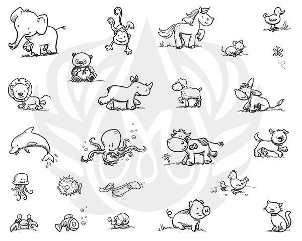 TELA PARA SILKSCREEN MOTIVO CUTESY ANIMALS (IMAGENS ANIMAIS)