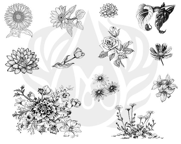 TELA PARA SILKSCREEN MOTIVO FLOWERS 2 (FLORES)