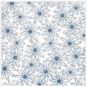 TRANSFER PAPER FLORES SELVAGENS AZUL