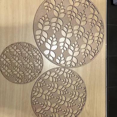 Trio de gabaritos para textura Retrô