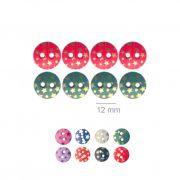 Botões Com Estrelinhas - 5 Pacotes Tamanho - 12